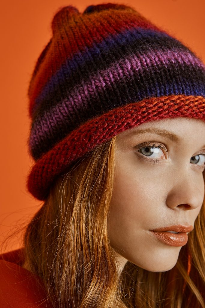 Hip Slouch Hat Free Knitting Pattern