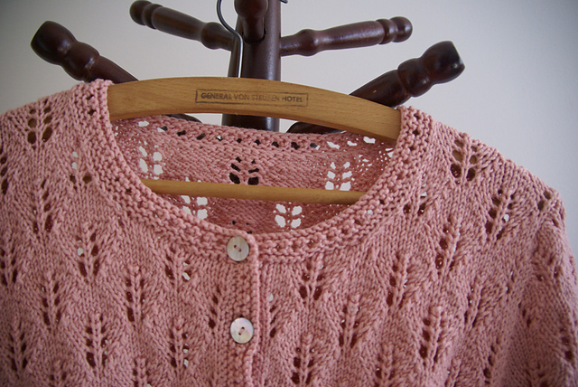 Hope Short Sleeved Lace Cardigan Free Knitting Pattern