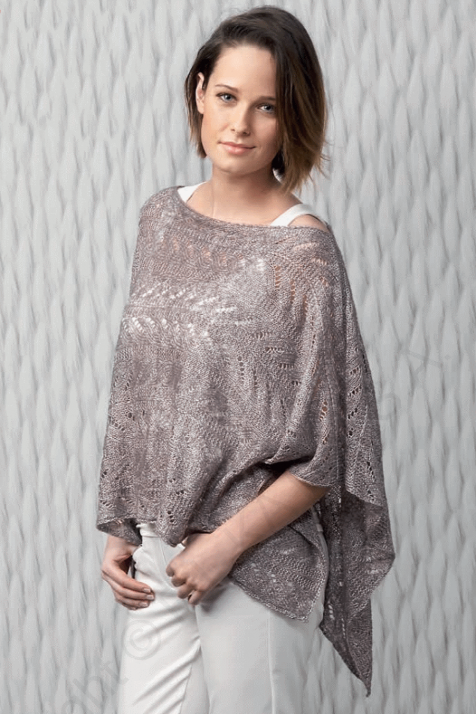 Katia Lace Poncho Free Knitting Pattern ⋆ Knitting Bee