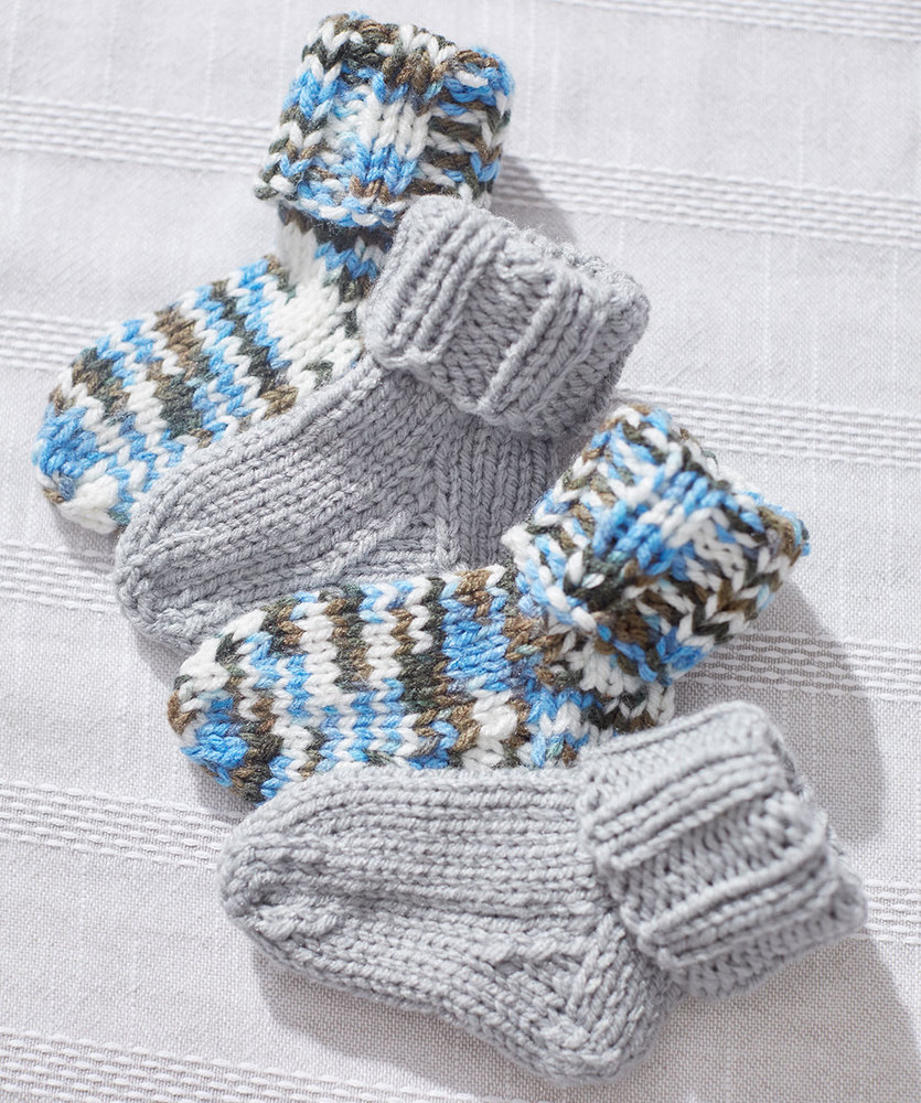 Knit Baby Socks Free Knitting Pattern Download 1 ⋆ Knitting Bee