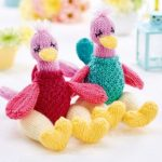 Knitted Ostriches Free Animal Toy Knitting Pattern