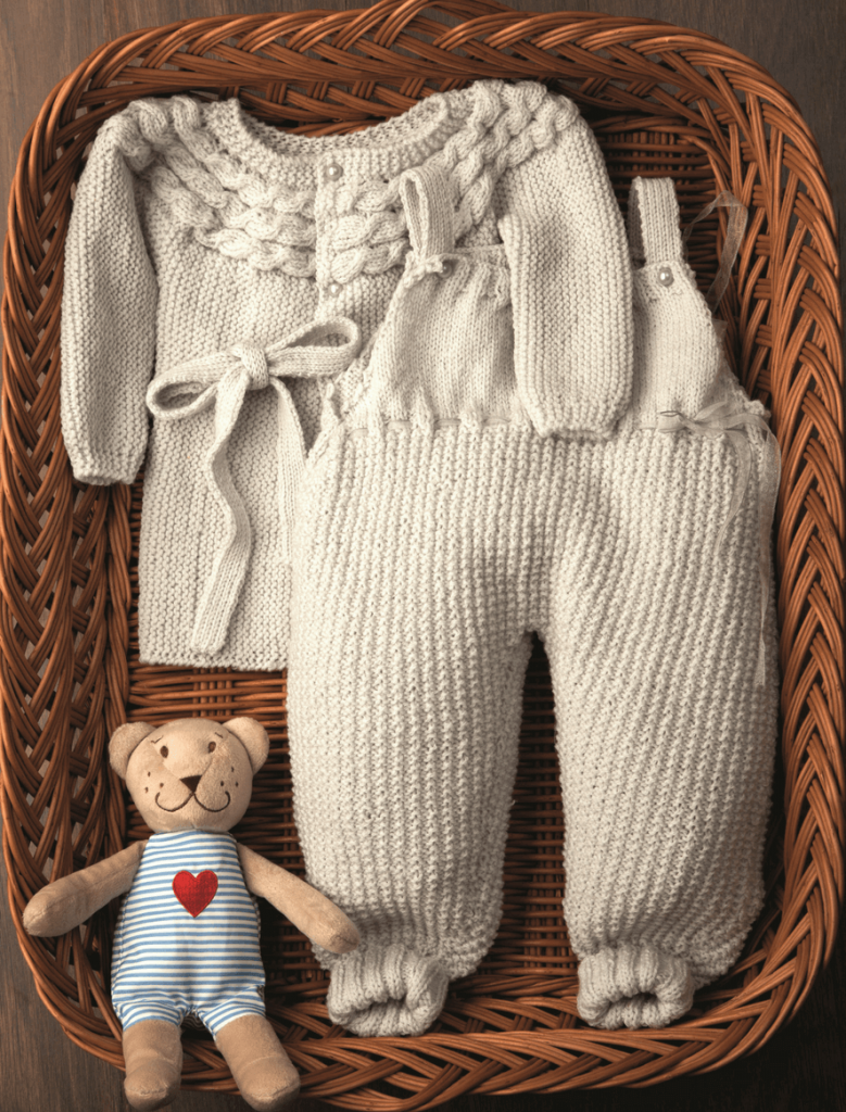 MerinoLand Onesie And Coat Free Baby Knitting Pattern