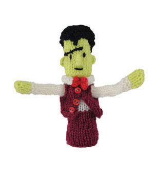 Micky Monster Finger Puppet Free Toy Knitting Pattern