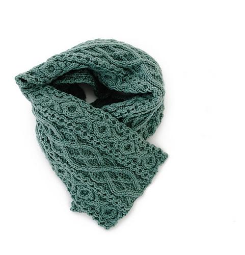 Mite Aran Scarf Free Knitting Pattern - Knitting Bee