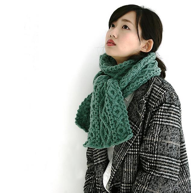 Mite Aran Scarf Free Knitting Pattern
