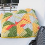 Mount Vinson Colored Pillow Free Knitting Pattern