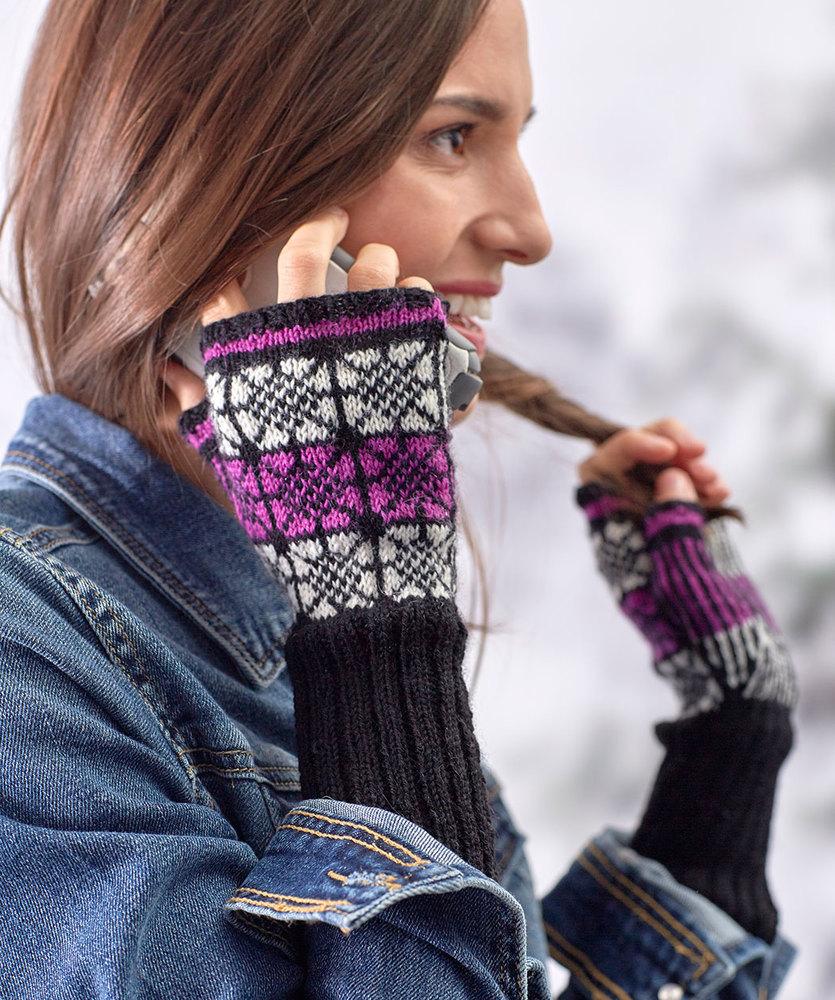 Nordic Pop Mitts Free Knitting Pattern
