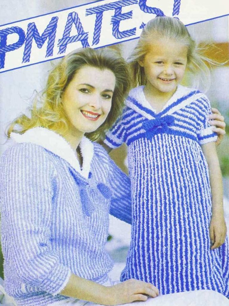 Shipmates Sail Away Dress Free Vintage Knitting Pattern