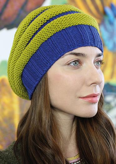 Slouchy Beanie Free Knitting Pattern