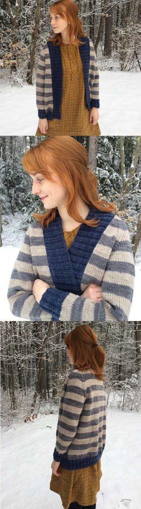 Striped Cardigan Free Ladies Knitting Pattern Download