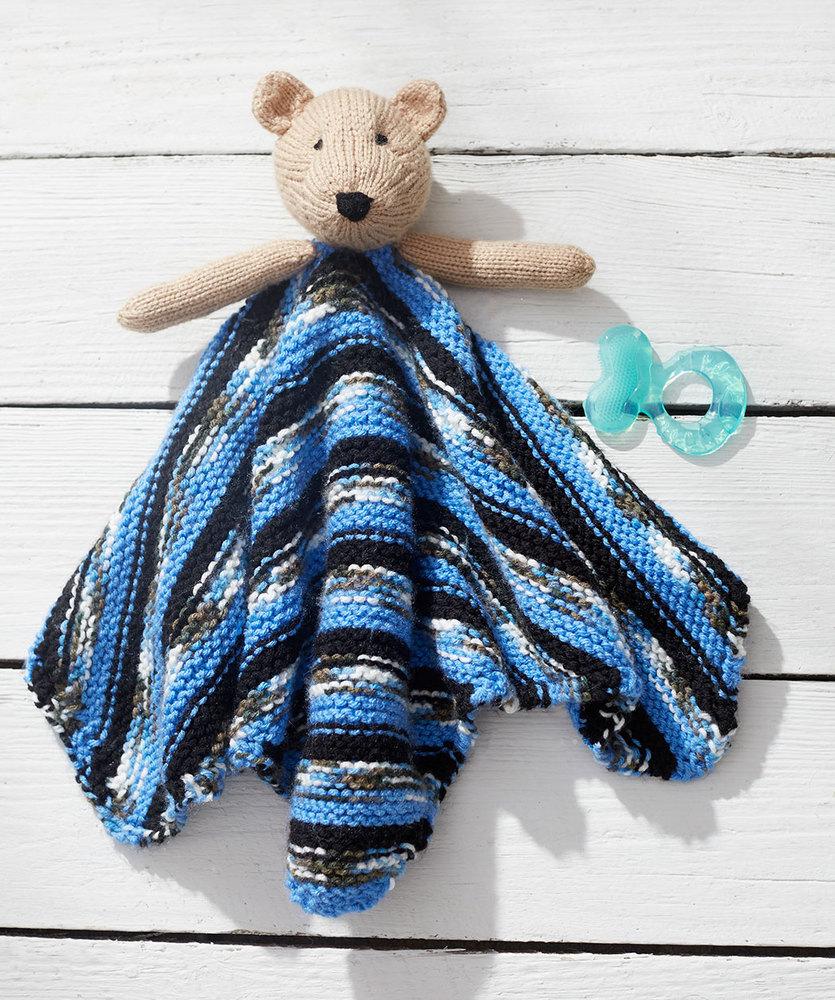 Teddy Bear Knit Lovey Free Baby Pattern