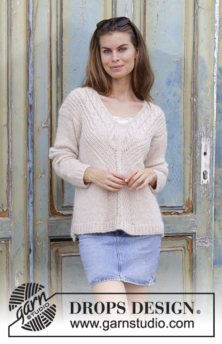 To the Point Cable and V-Neck Sweater Free Knitting Pattern