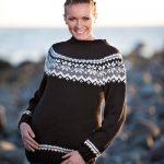 Viking Sweater with Yoke Free Knitting Pattern