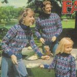Vintage Fair Isle Sweaters Free Knitting Pattern for the Whole Family