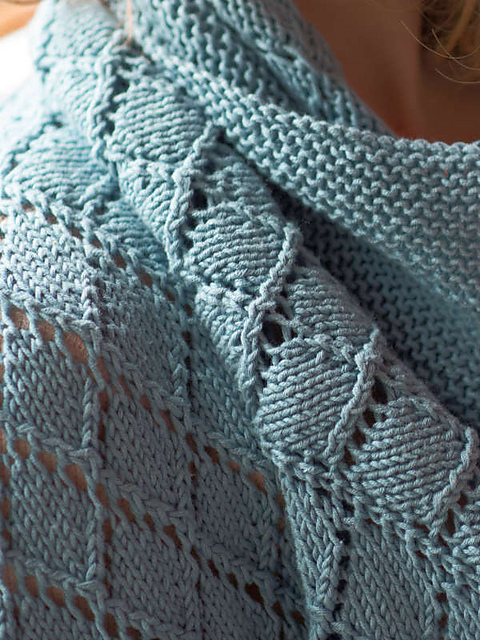 Free Knitting Pattern for Cunningham a Lace Blanket.