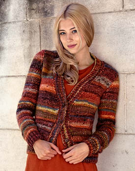 Free Knitting Pattern for Hue Lady's Cardigan