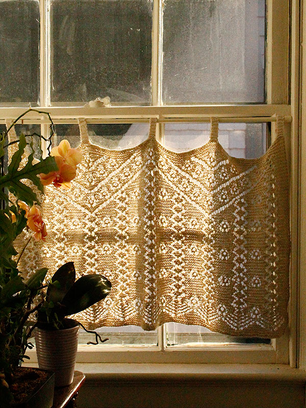 Free Knitting Patter.n for Lace Curtains