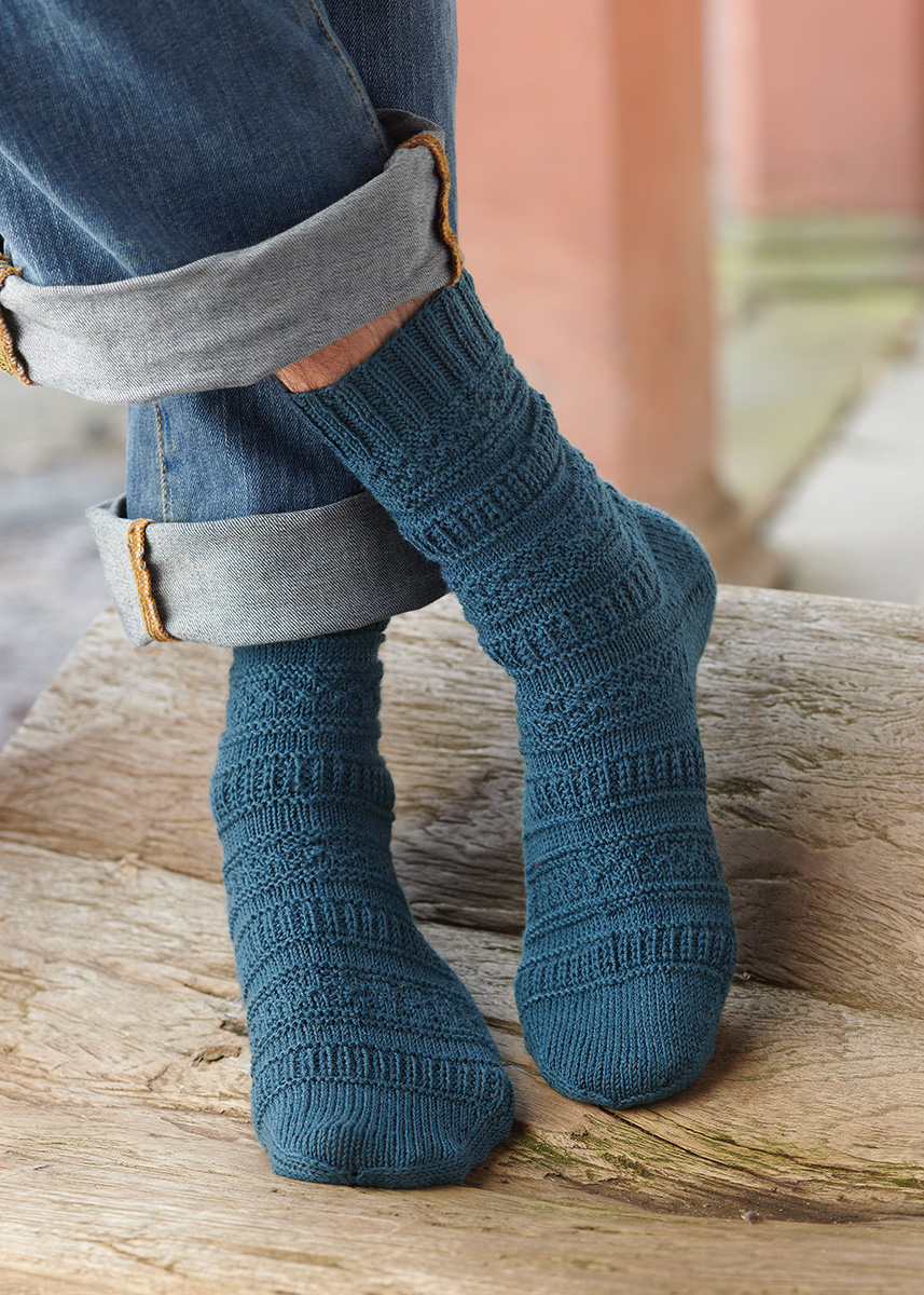 Free Knitting Pattern for Pattern Mix Socks. Easy socks knitting pattern.