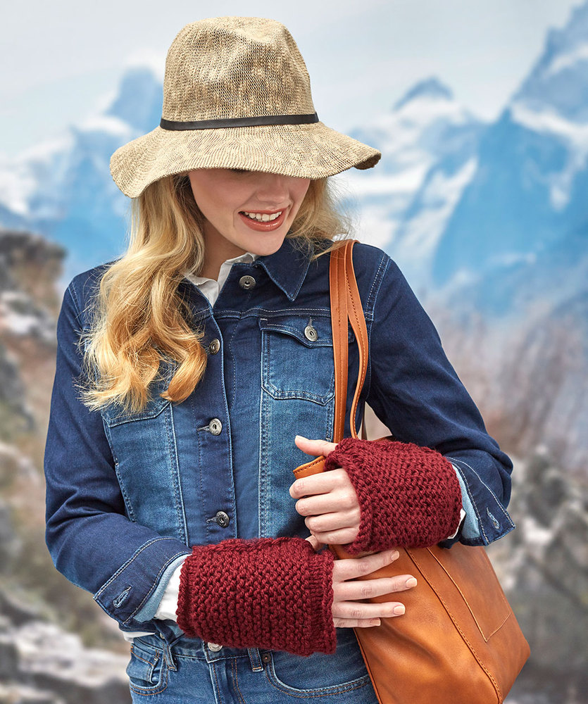 Free Knitting Pattern for Simple Fingerless Mitts