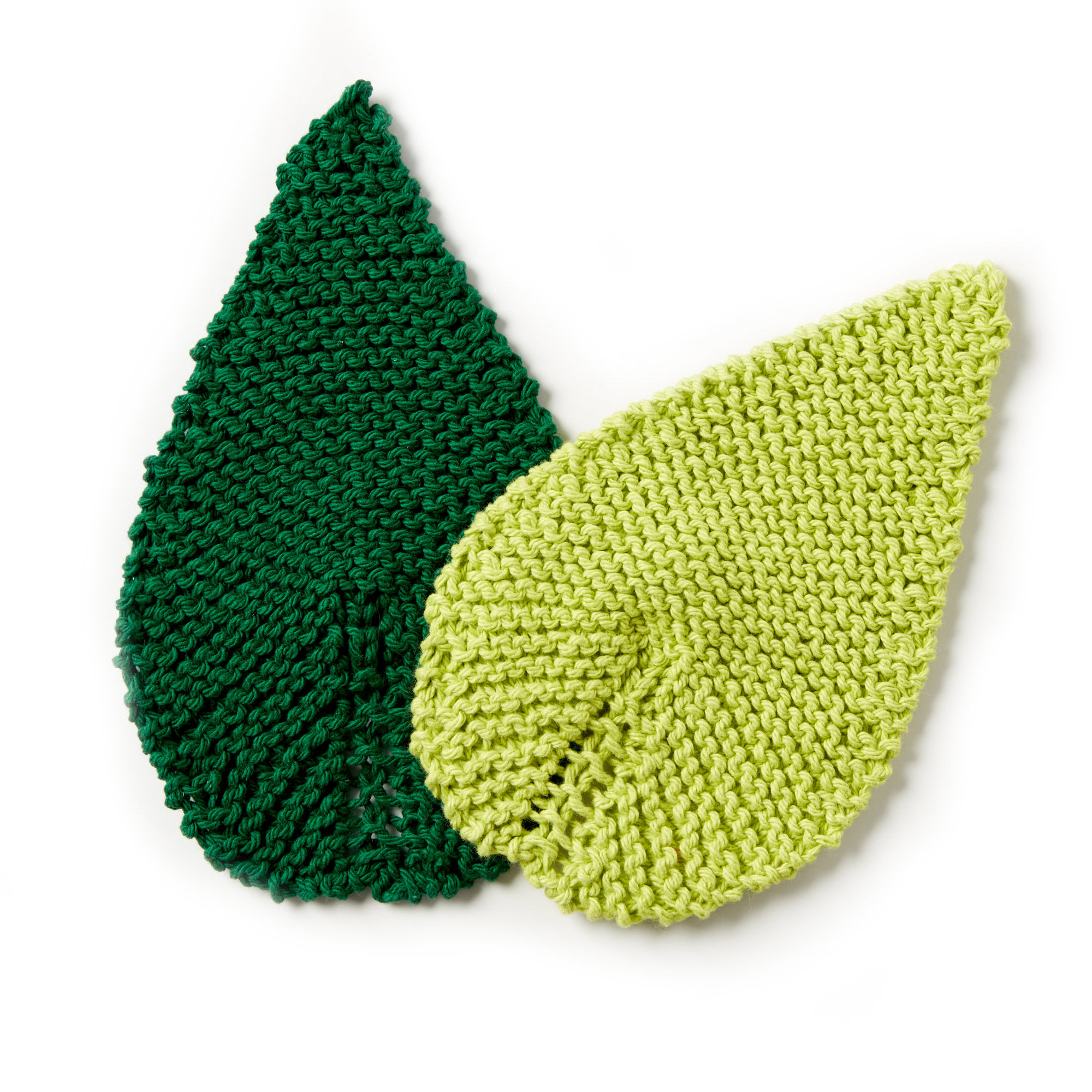 Free Knitting Pattern For A Be-Leaf It Mug Rug