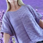 Free Knitting Pattern for a Butterfly Tee.