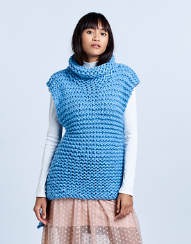 Free Knitting Pattern for a Chunky Wool Tunic