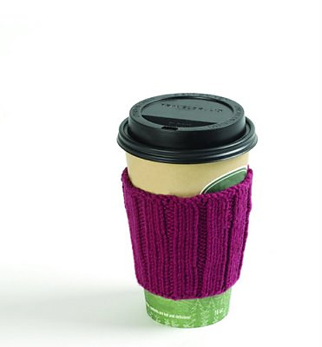 Free Knitting Pattern for a Easy Knit  Coffee Clutch.