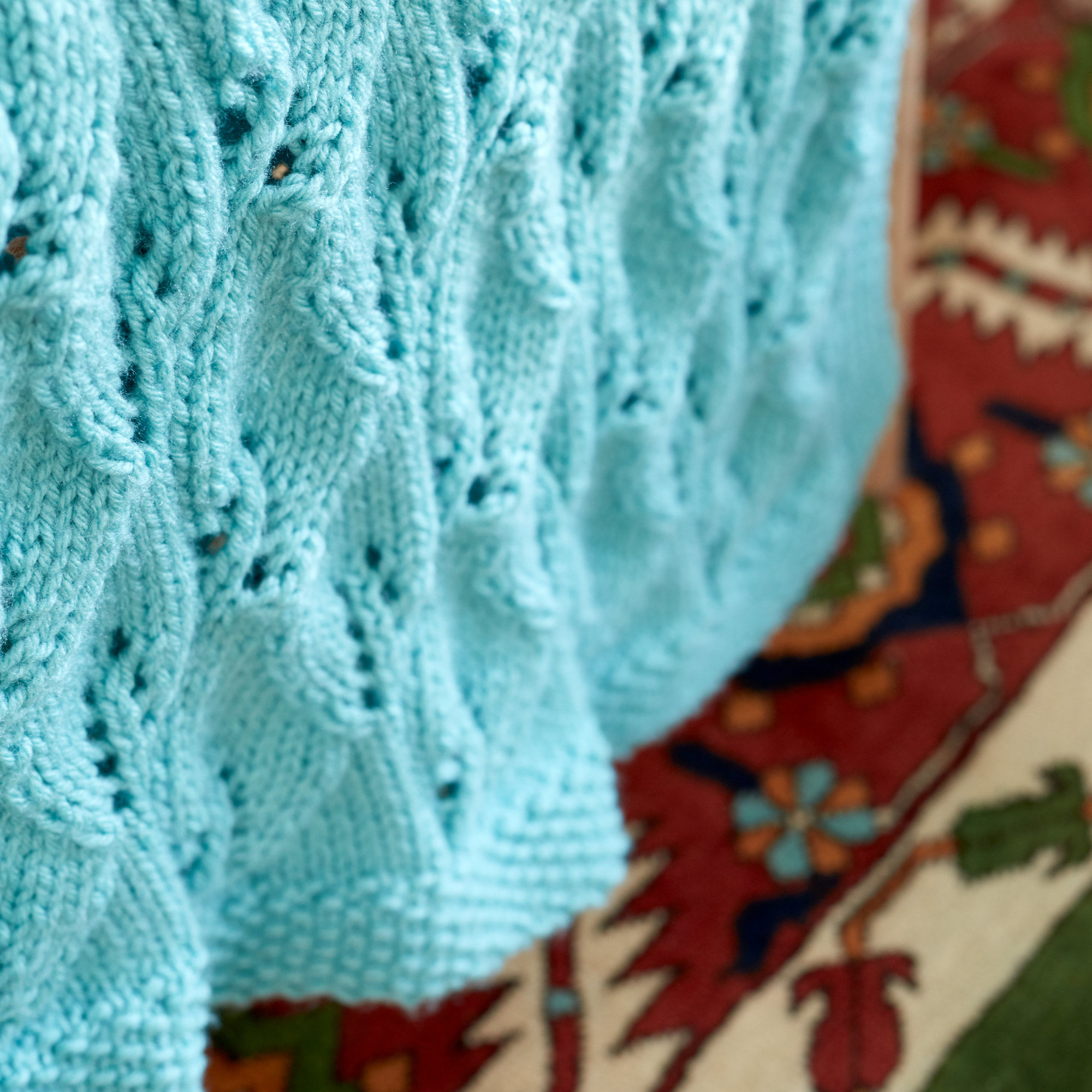 Free Knitting Pattern for a Leafy Lace Green Afghan 4 ...