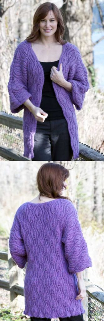 Free Knitting Pattern for a Luscious Leaves Coat.
