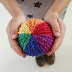 Free Knitting Pattern for a Rainbow Ball Toy
