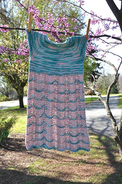 Free Knitting Pattern for a Sakura Dress.