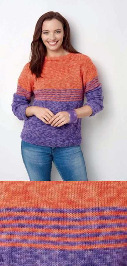Free Knitting Pattern for a Simple Stripe Sweater.