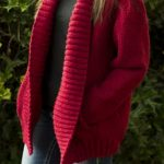 Free Knitting Pattern for a Simplicity Shawl Collar Jacket.