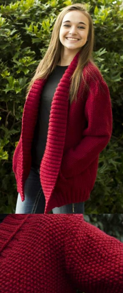 Free Knitting Pattern For A Simplicity Shawl Collar Jacket