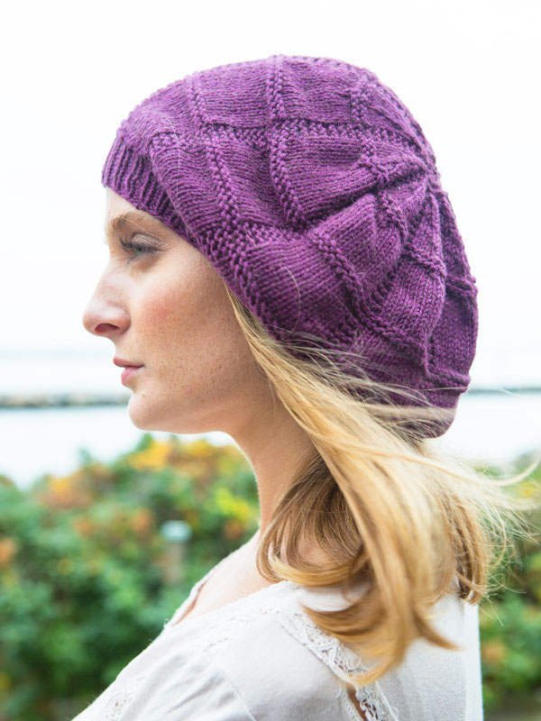 Free Knitting Pattern for a Slouchy Beret.