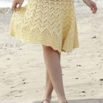 Free Knitting Pattern for a Sunny Days Skirt.