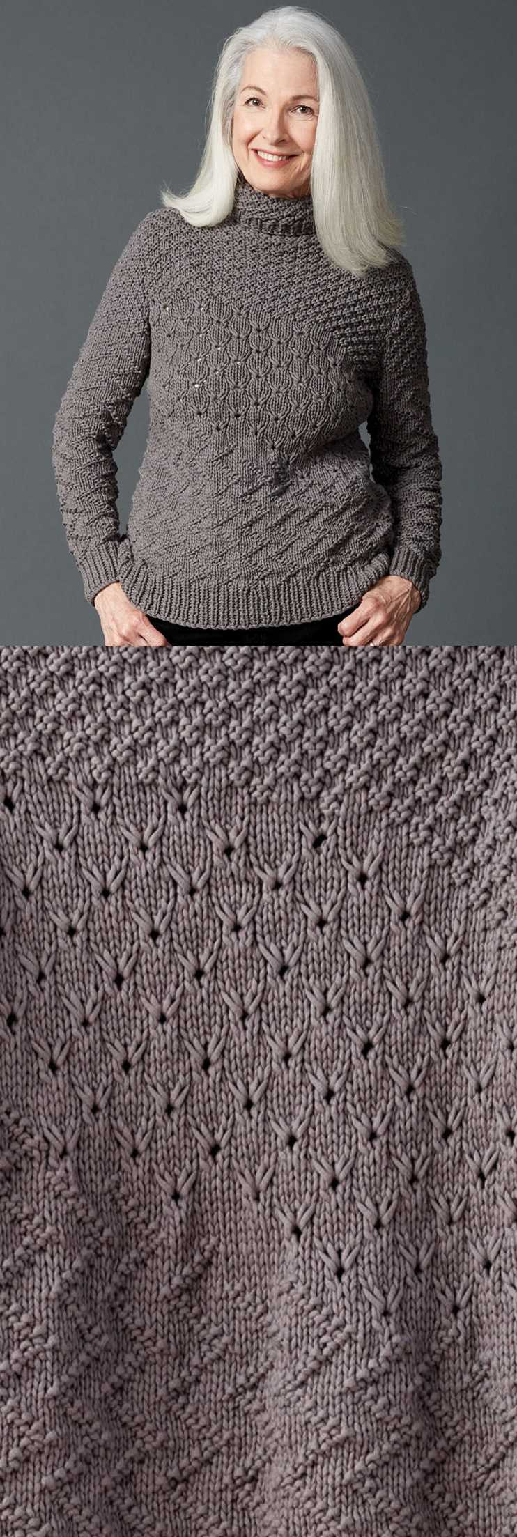 Free Knitting Pattern For A Texture Mix Knit Sweater