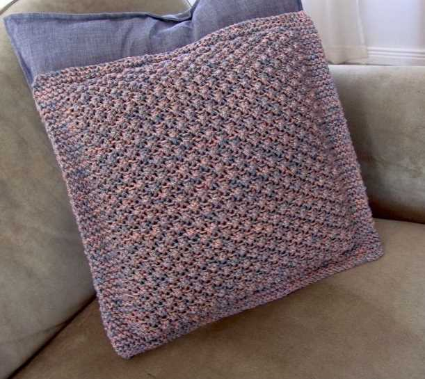 Free Knitting Pattern For A Trinity Cushion Cover Knitting Bee