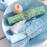 Seed Stitch and Check Pattern Dishcloth Free Knitting Pattern.