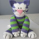 Free Knitted Cat Pattern Share Kitty. Free cat soft toy knitting pattern.