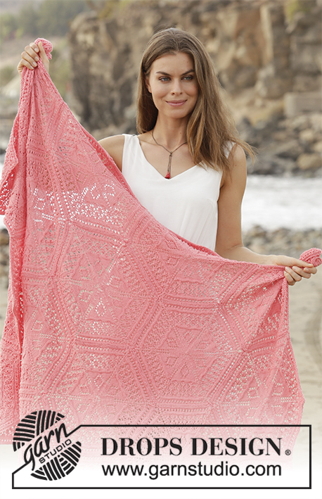 Free Knitting Pattern for Caledonia a Lace Hexagon Blanket