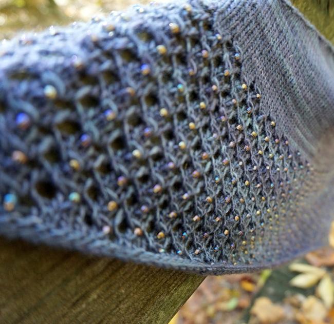 Free Knitting Pattern for Charmayne Beaded Lace Shawl