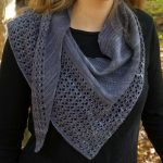 Free Knitting Pattern for Charmayne Beaded Lace Shawl