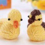 Free Knitting Pattern for Ducklings duck farm animal