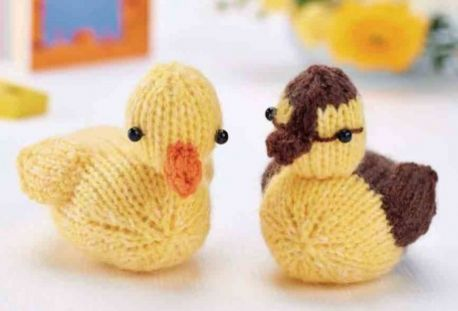 Free Knitting Pattern for Ducklings duck farm animal