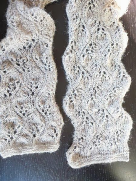 Free Knitting Pattern for Sjaal in Ajour Lace Scarf