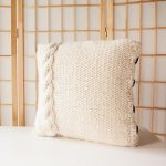 Free Knitting Pattern for a Cable Me Cozy Pillow Cover