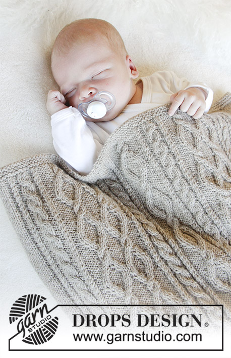 Free Knitting Pattern for a Cabled Baby Blanket
