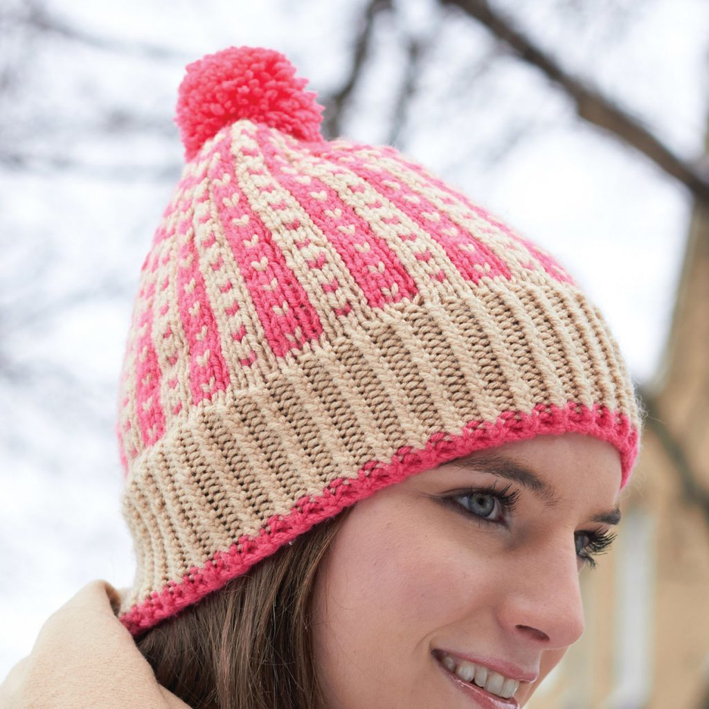 Free Knitting Pattern for a Colorwork Winter Weekend Hat