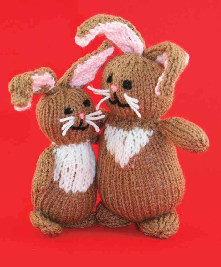 Free Knitting Pattern for a Cuddle Bunny Toy